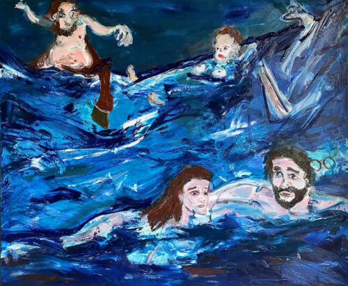Playing In The Sea (After Bocklin) 2021
